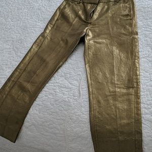 J Crew GOLD ANKLE DRESS SLACKS